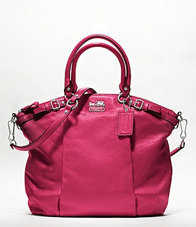 COACH MADISON LEATHER LINDSEY SATCHEL