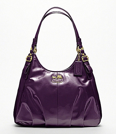 COACH MADISON PATENT MAGGIE SHOULDER BAG