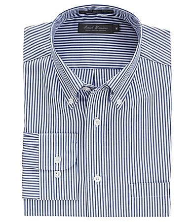 Daniel Cremieux Signature Cotton-Bemberg Blend Striped Sportshirt