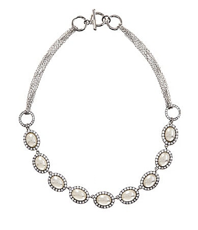 Cezanne Oval Stones Frontal Necklace