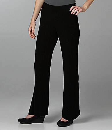 TanJay Pull-On Wide-Waist Pants