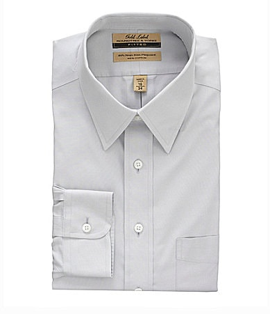 Roundtree & Yorke Gold Label Point-Collar Fitted Dress Shirt