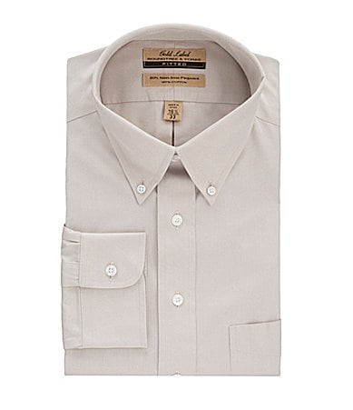 Roundtree & Yorke Gold Label Button-down Collar Fitted Dress Shirt