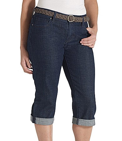 Levi�s Petites 515 Cuffed Denim Capri Pants