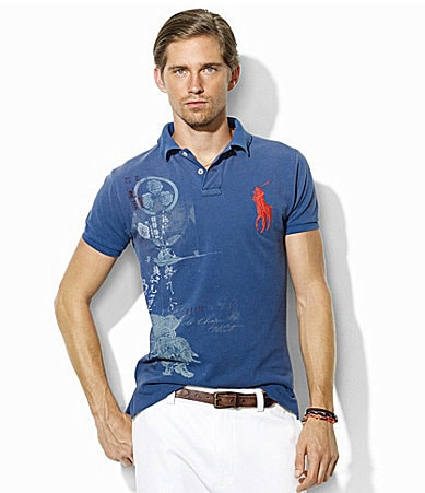 Polo Ralph Lauren Custom-Fit Graphic Mesh Polo Shirt