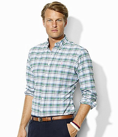 Polo Ralph Lauren Classic-Fit Plaid Oxford Sportshirt