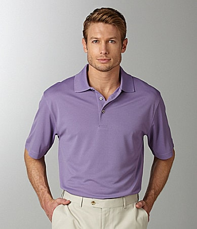 Roundtree & Yorke Performance Solid Polo Shirt