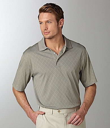 Roundtree & Yorke Performance Argyle Polo Shirt