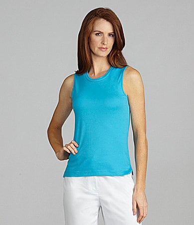 Westbound Petites Double-Collar Sleeveless Tank