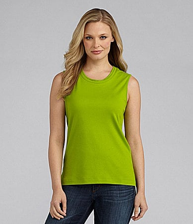Westbound Double-Collar Sleeveless Tank Top