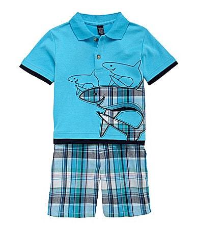 Class Club 2T-7 2-Piece Shark Short Set