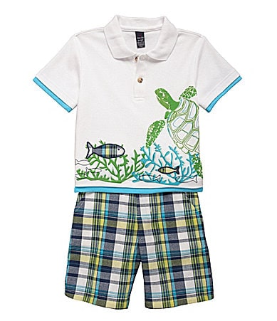 Class Club 2T-7 2-Piece Turtle Short Set
