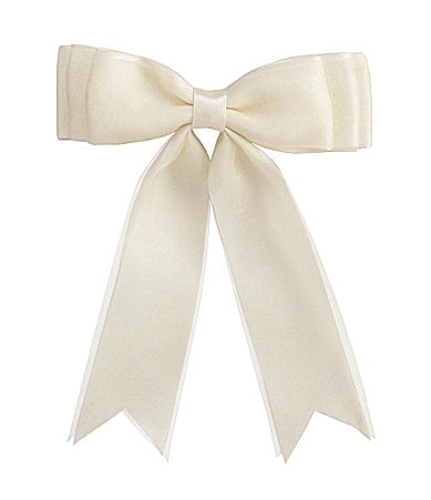 Copper Key  Organza Satin Tails Bow