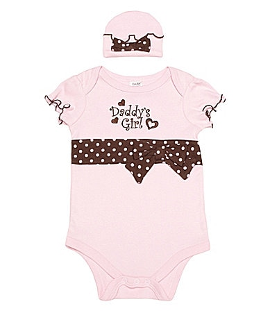 Baby Essentials Newborn Daddy�s Girl Creeper & Cap Set