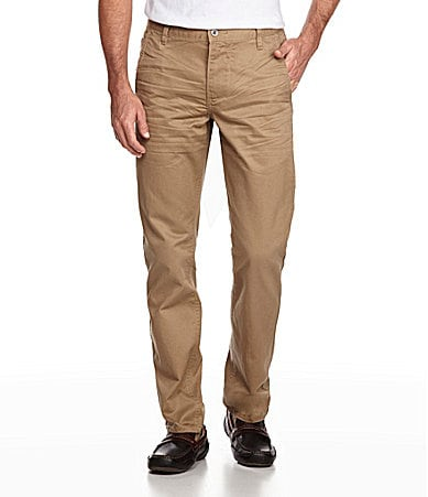 Dockers Premium Alpha Khaki Slim-Fit Flat-Front Pants