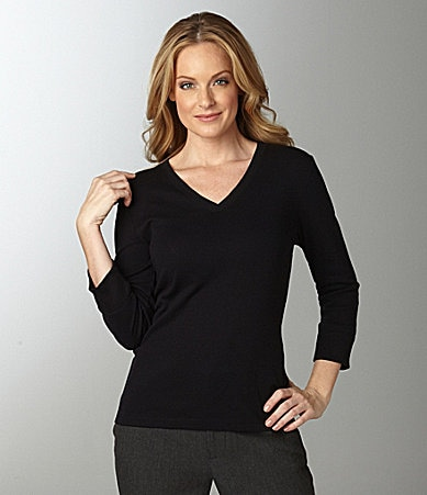 Jones New York Sport V-Neck Top