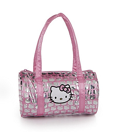 Hello Kitty Satin Faux Sequin Barrel Satchel