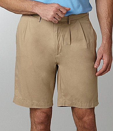 Cremieux Summer Twill Pleated Shorts