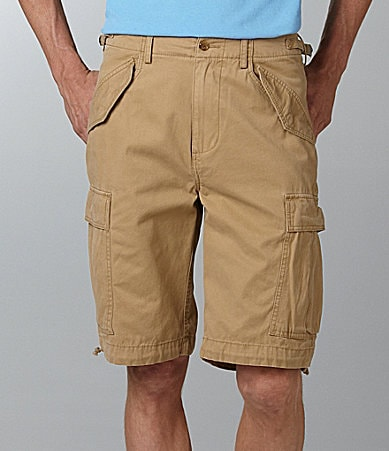 Cremieux Solid Military Cargo Shorts