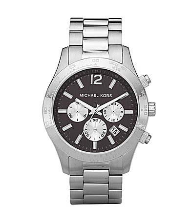Michael Kors Layton Mens Gunmetal Chronograph Sport Watch
