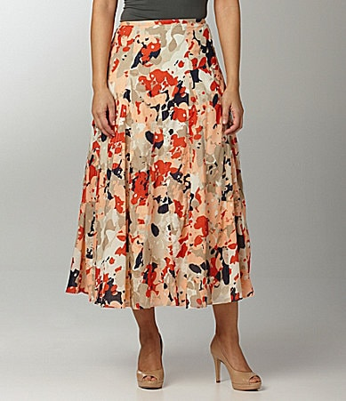 Ruby Rd. Long Floral-Print Skirt
