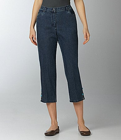 Ruby Rd. Denim Capri Pants