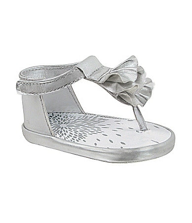Baby Deer Metallic Thong Sandals