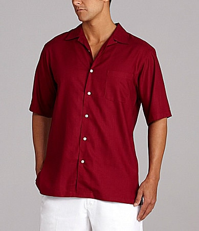 Daniel Cremieux Signature Solid Dobby Camp Shirt