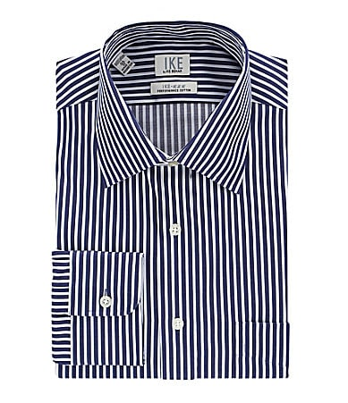 Ike Behar Spread-Collar Dress Shirt