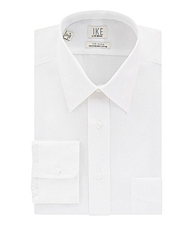 Ike Behar Herringbone Point-Collar Dress Shirt