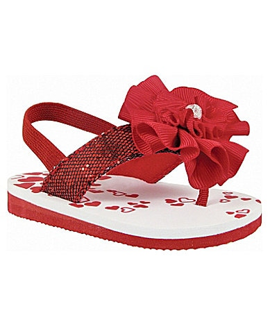 Baby Deer Glittered Thong Sandals