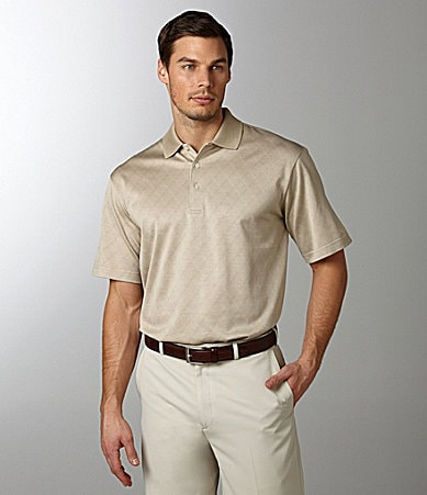 Daniel Cremieux Signature Diamond Jacquard Polo Shirt