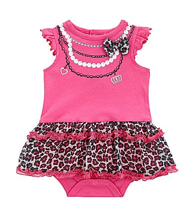 Baby Essentials Newborn Animal Print Skirted Creeper