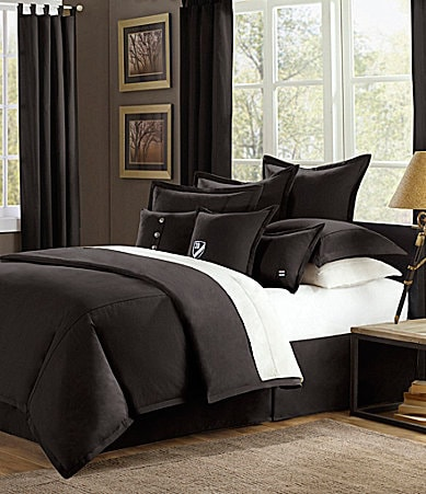 Cremieux Classic Twill Black Bedding Collection