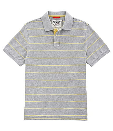 Cremieux Jeans Heathered Striped Polo Shirt