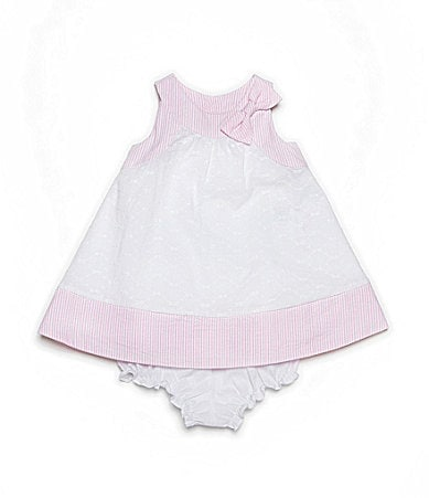 Laura Ashley Infant Eyelet/Seersucker Dress & Matching Panty