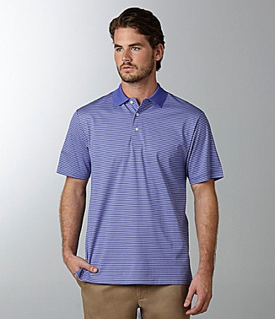 Daniel Cremieux Signature Thin Striped Jersey Polo Shirt