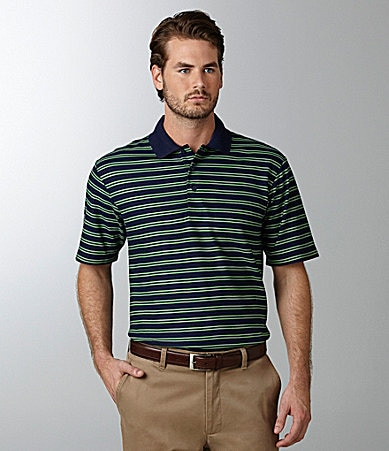 Daniel Cremieux Signature Thin Striped Pique Polo Shirt