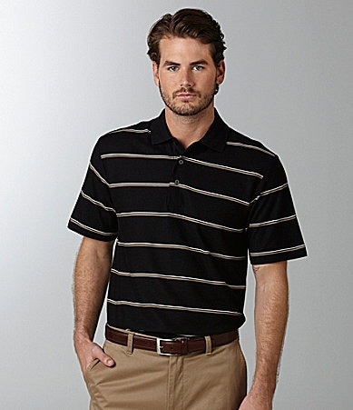 Daniel Cremieux Signature Wide Striped Pique Polo Shirt