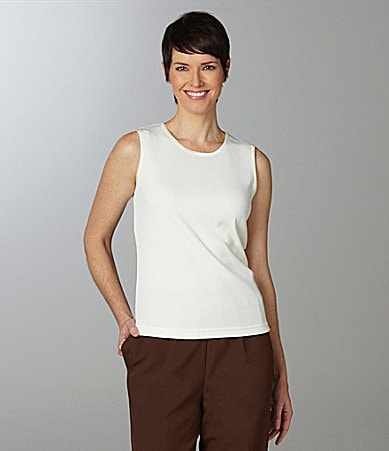 Allison Daley Petites Sleeveless Knit Shell