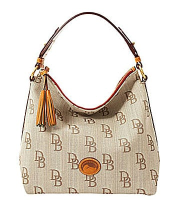 Dooney & Bourke Signature Florentine Zipper Top Satchel