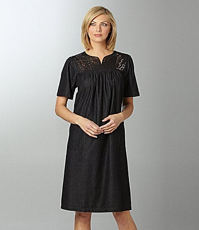 Go Softly Patio Black Denim Patio Dress