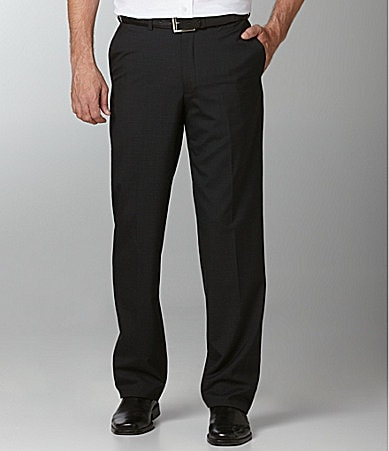 Hart Schaffner Marx Check Flat-Front Dress Pants