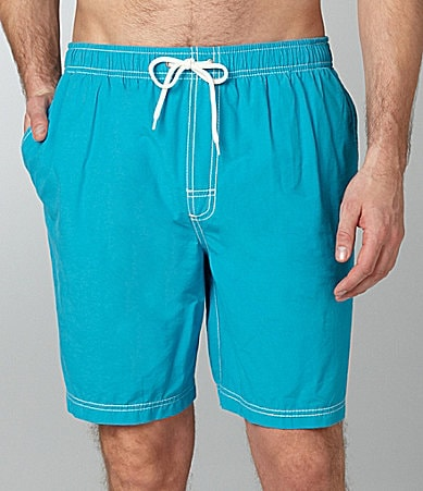 Roundtree & Yorke Solid Swim Trunks