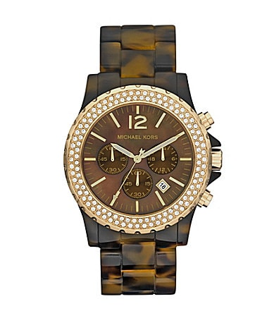 Michael Kors Tortoise Madison Chronograph Watch