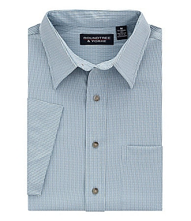 Roundtree & Yorke Striped Dobby Shirt
