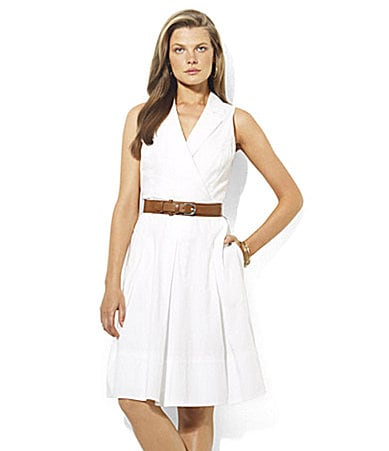 Lauren by Ralph Lauren Belted Cotton Dress