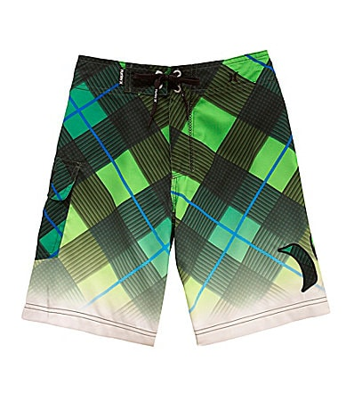 Hurley 8-20 Plaid Board Shorts