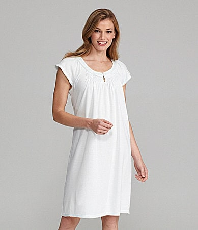 Miss Elaine Silky Knit Short Gown