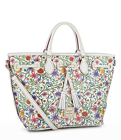 Dooney & Bourke East-West Floral Tassel Shopper